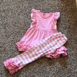New, never worn pink boutique outfit